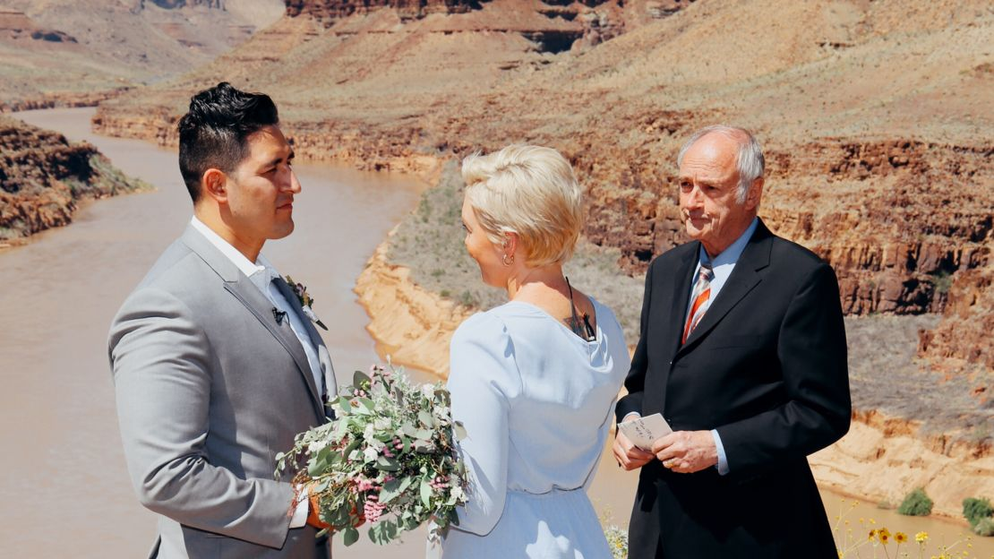 Grand Canyon Wedding at the bottom of the canyon.