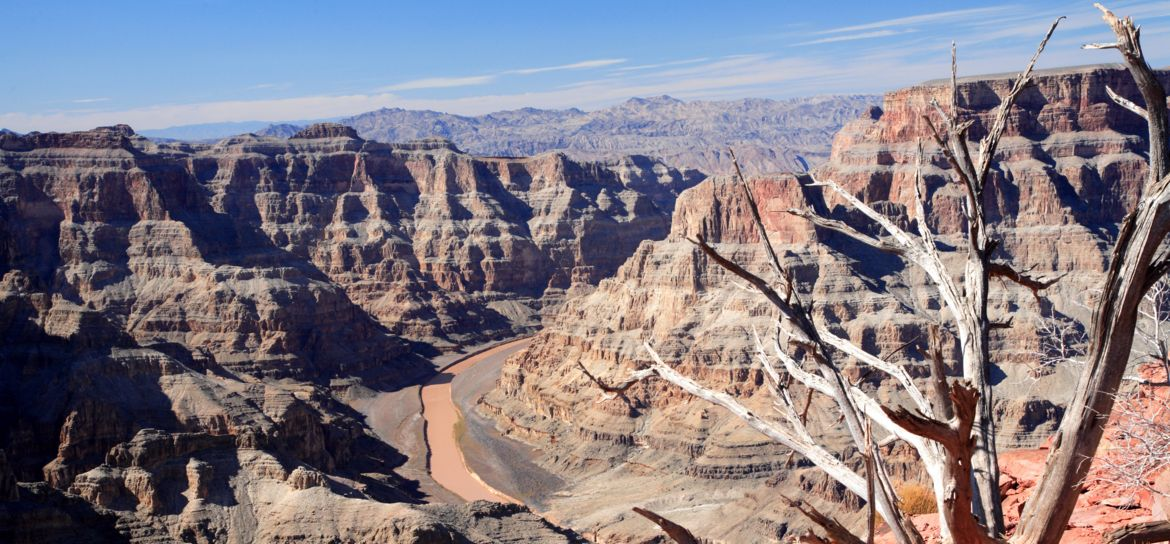 Views of the Hualapia-owned West Rim on one of Papillon's Las Vegas trips to the Grand Canyon
