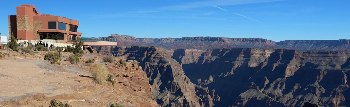 A view of the Grand Canyon Skywalk located on the Hualapai Reservation at Grand Canyon West