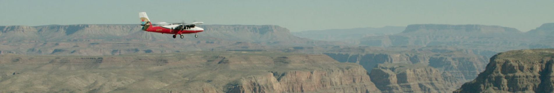 EC130 Red Helicopter on the bottom of Grand Canyon