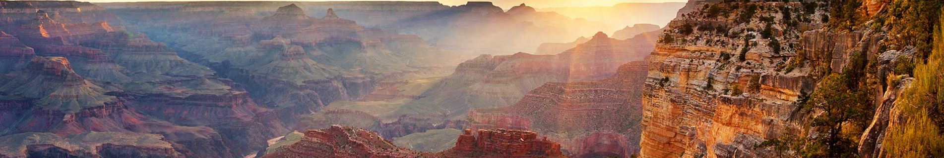 South Rim of Grand Canyon at Sunset