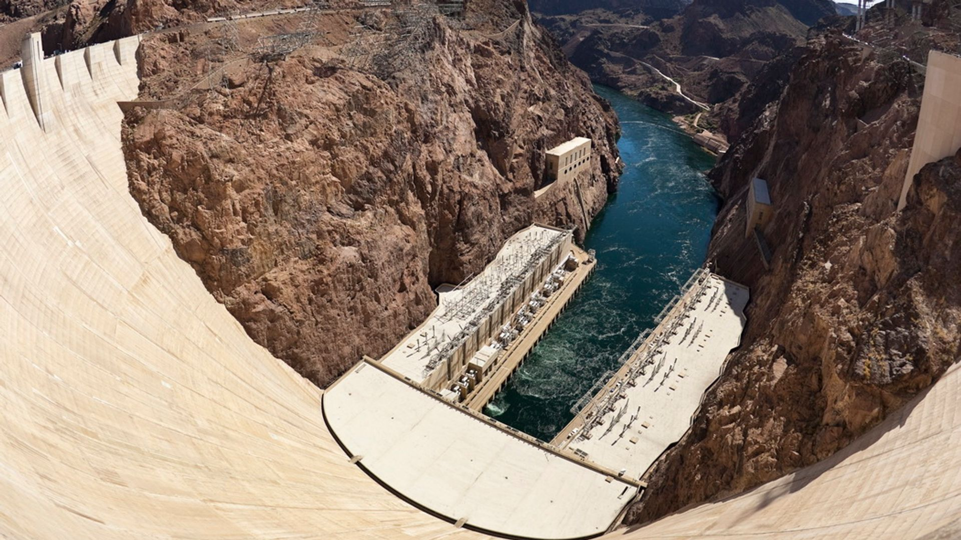 Colorado river from the top of the dam