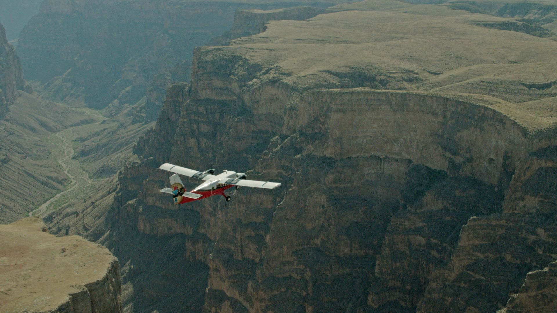 Airplane over Grand Canyon