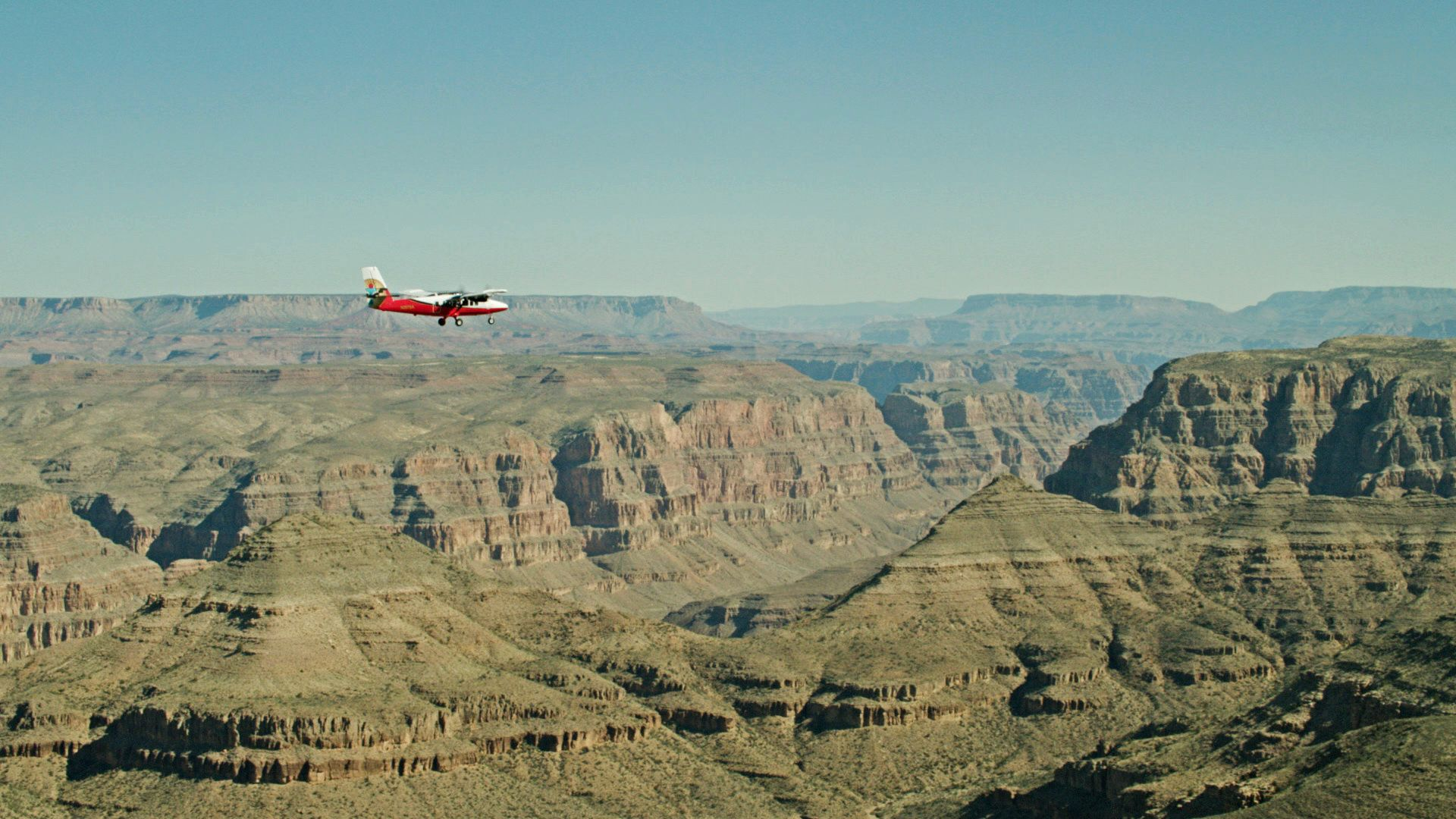 Grand Canyon Scenic Airlines plane over Grand Canyon
