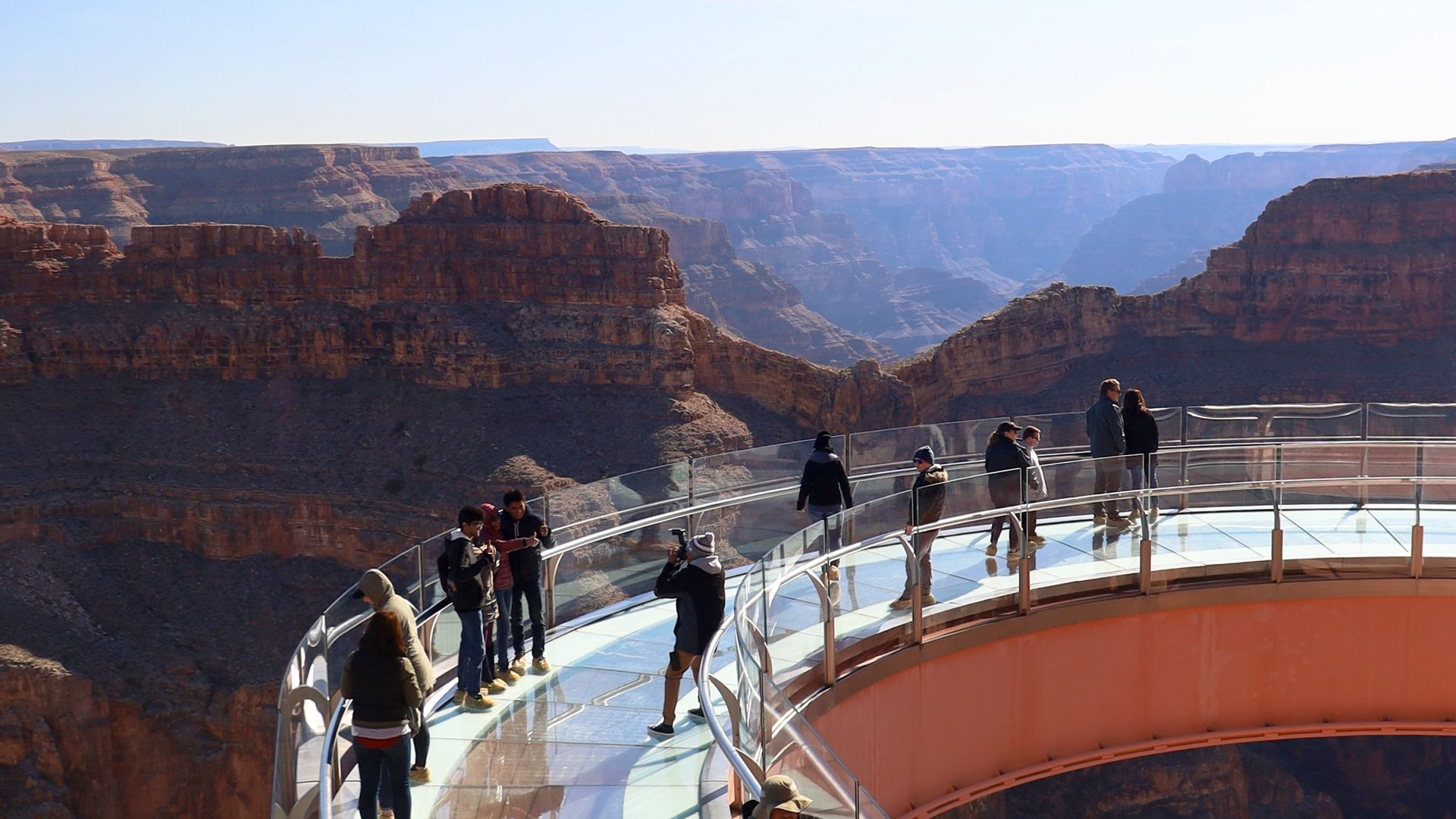 Guests on the Skywalk at Sunrise