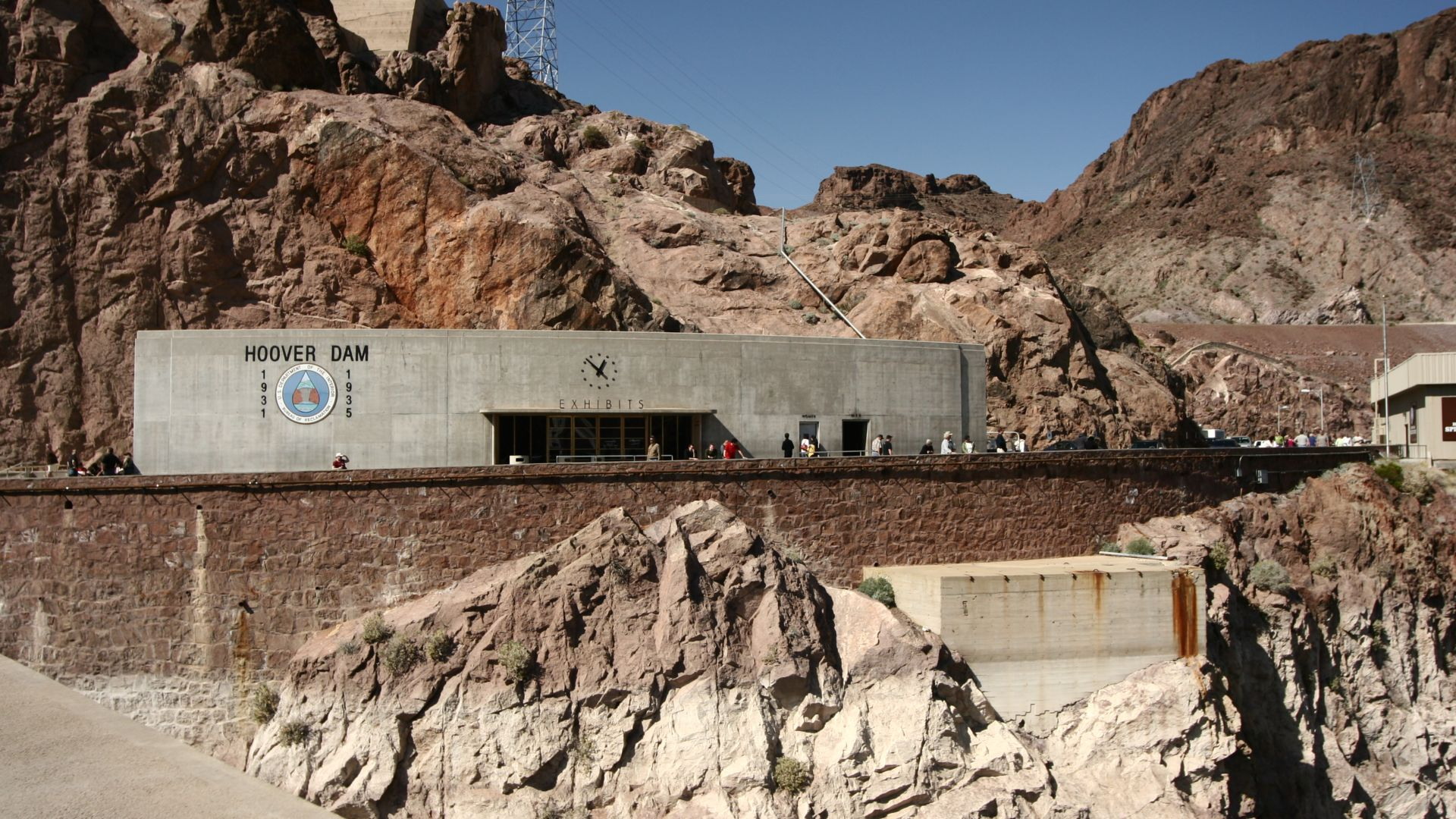 Exhibits entrance at Hoover Dam