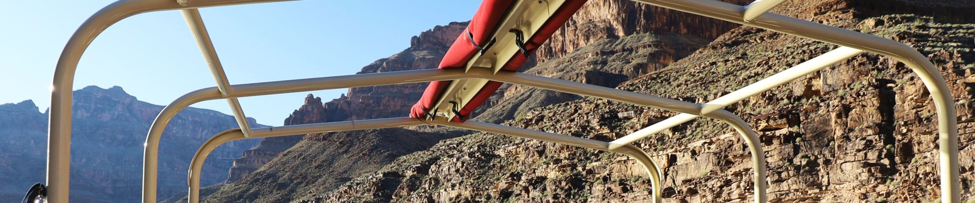 View of the Grand Canyon from the Hualapai River Runner Pontoon Boat