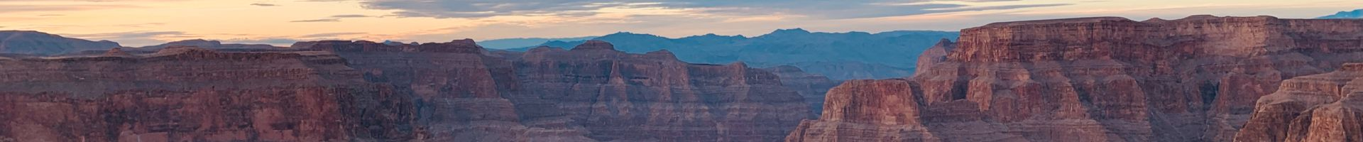 Panoramic view of the Grand Canyon West Rim during one of GCSA's Grand Canyon West Rim Tours