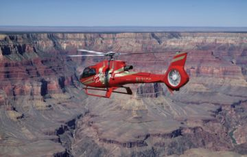 A Grand Canyon helicopter over the eastern end of Grand Canyon.