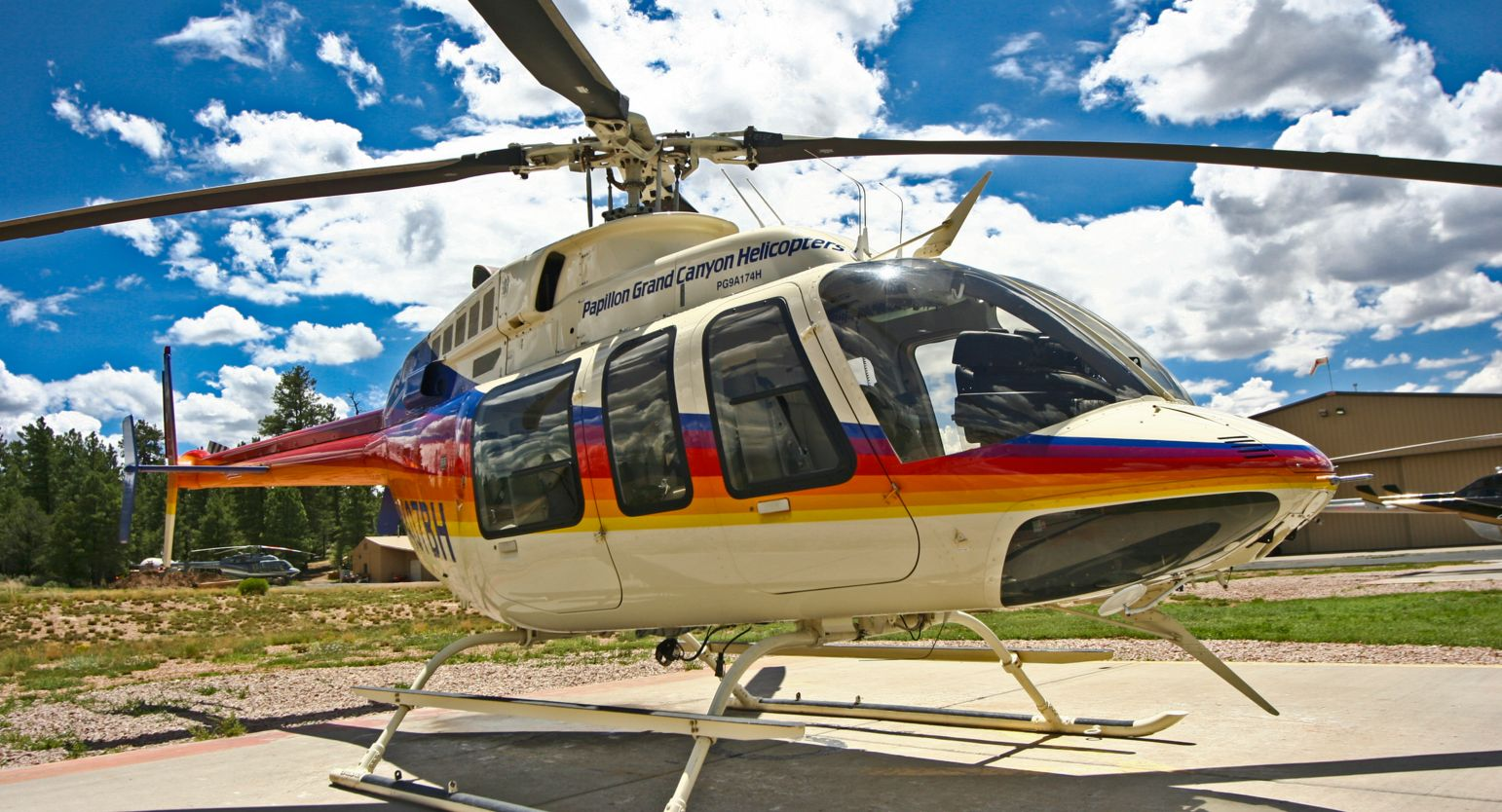 Rainbow livery Grand Canyon Tour helicopter
