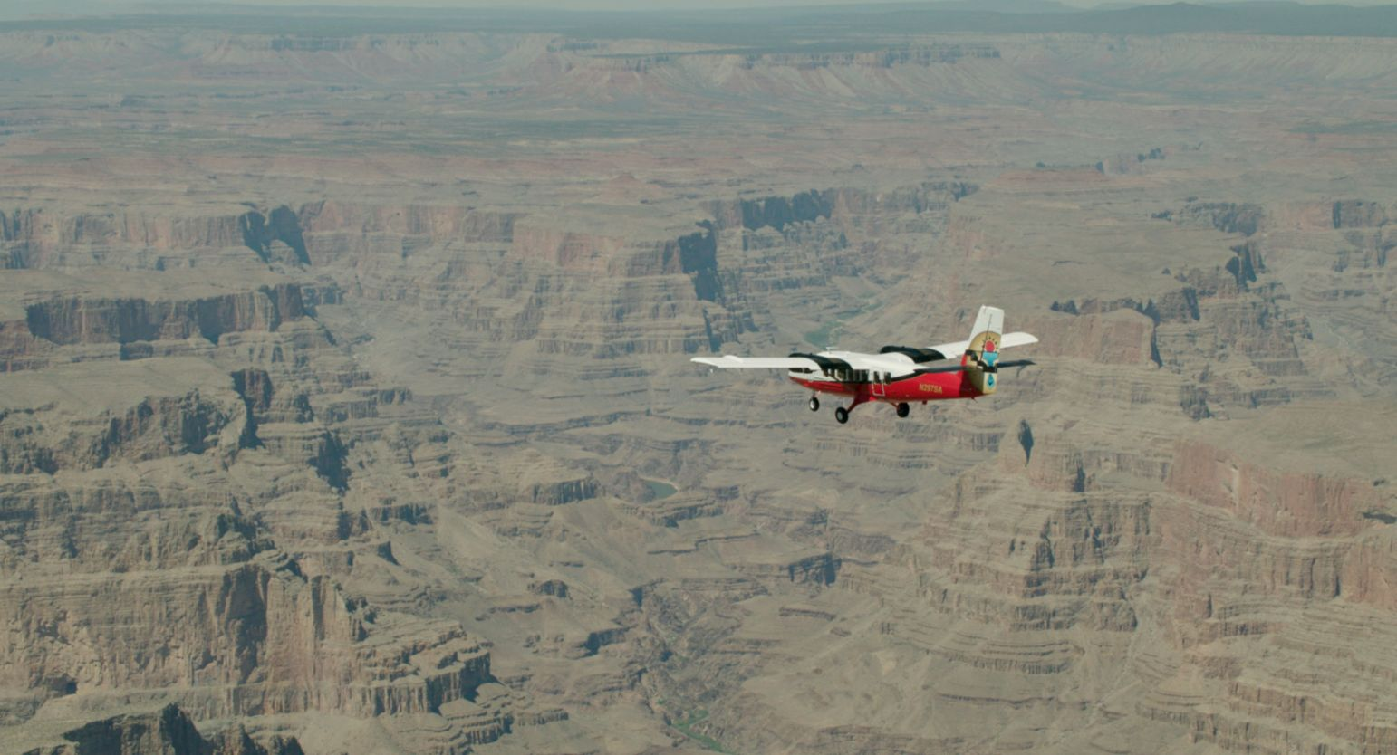 A Grand Canyon Airlines plane used to transport river rafters