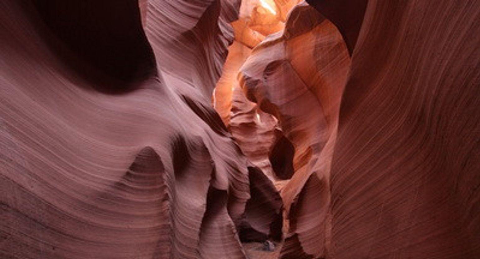 Beautiful shot of Antelope Canyon interior