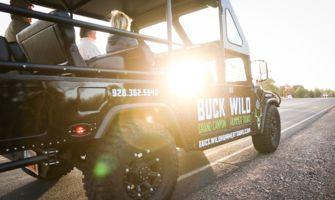 Sun beam through window of a Buck Wild Hummer