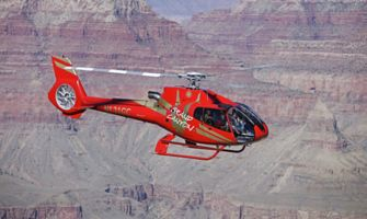 Red gch heli over the south rim