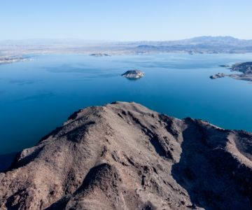 A panoramic view of Lake Mead