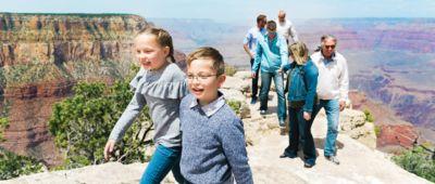 Kids walking at Grand Canyon South Rim
