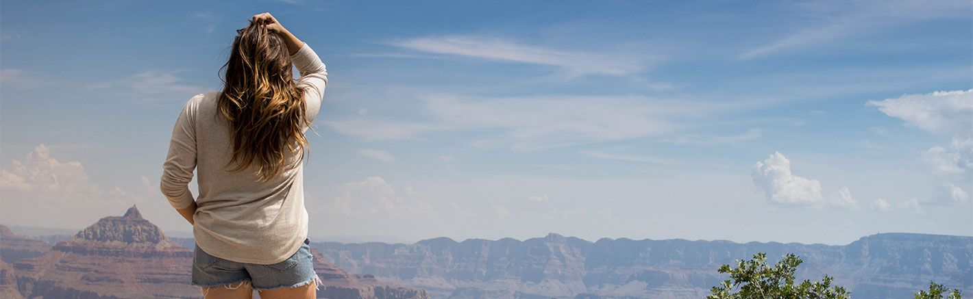 Spectacular aerial view aboard a Papillon helicopter tour flying Las Vegas to Grand Canyon.