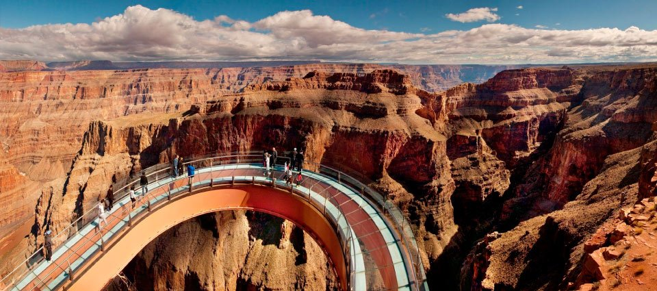 Fantastic sightseeing along the Grand Canyon Skywalk.