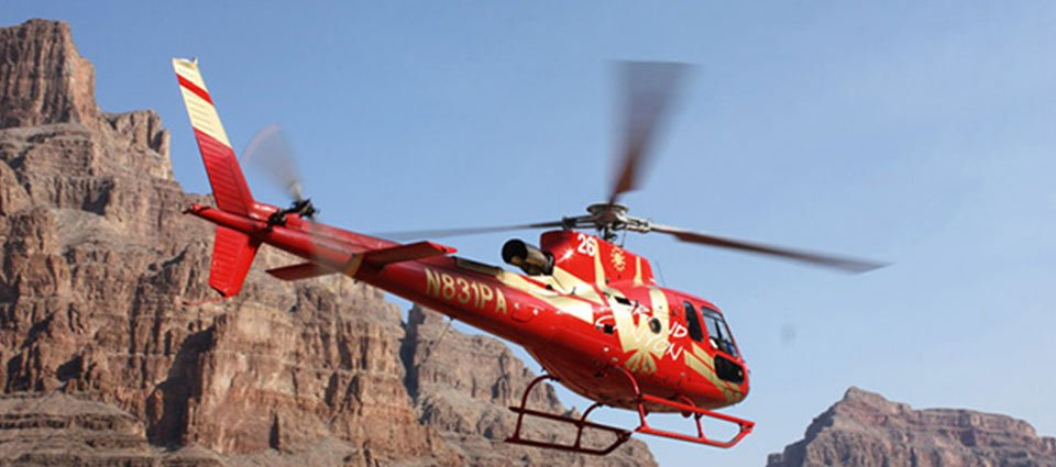This thrilling helicopter tour lands on the floor of the West Rim.