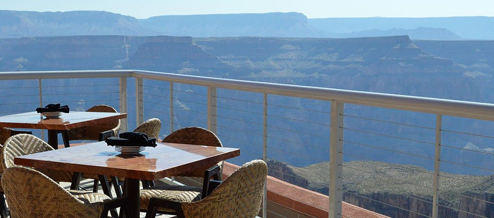Views of the canyon while you dine