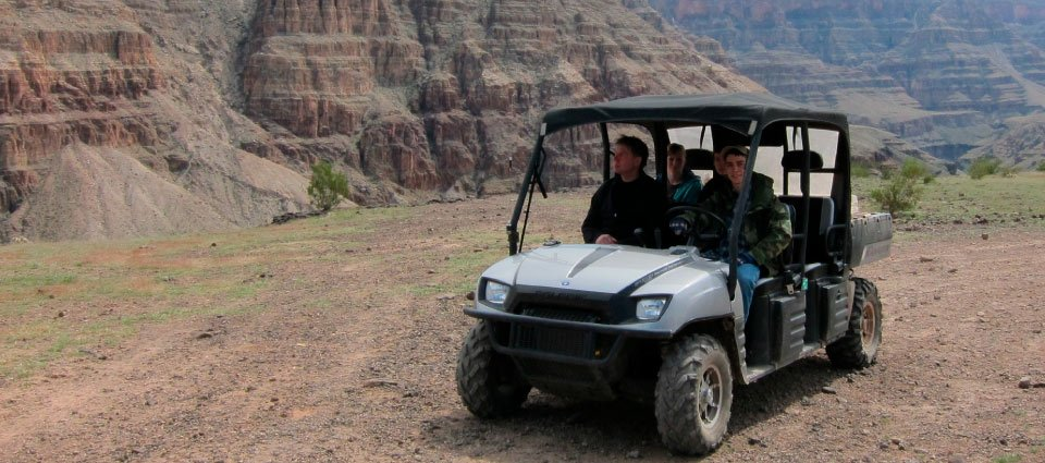 An ATV tour along the canyon rim.