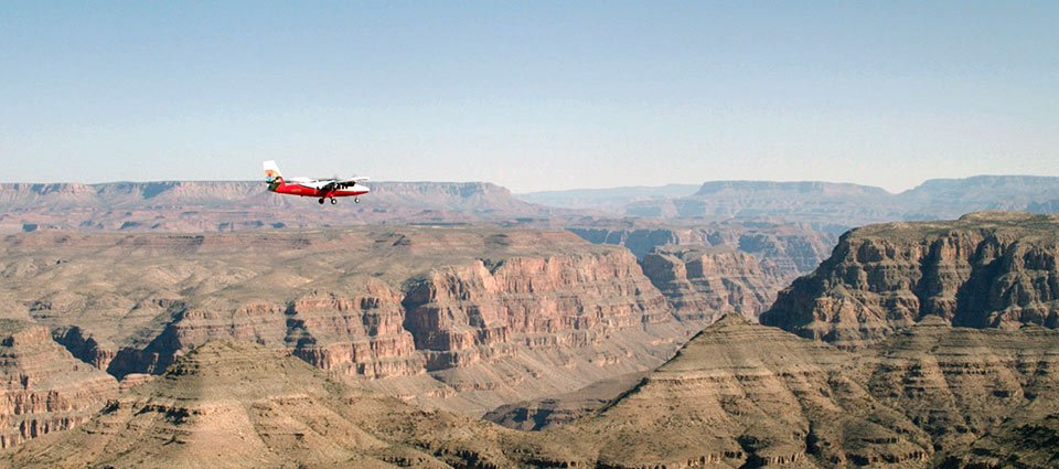 The Grand Canyon West stretching across the horizon.