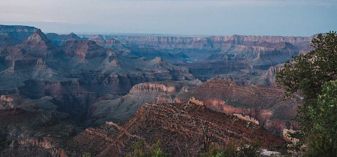 A panoramic Grand Canyon landscape