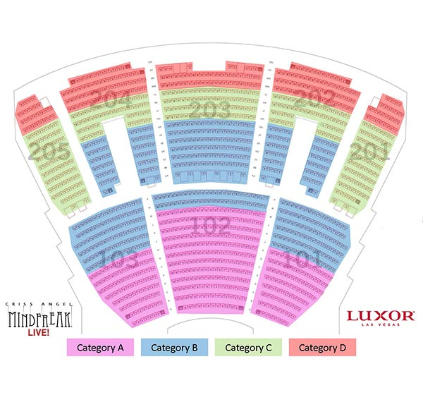 CRISS ANGEL MINDFREAK Seating Map