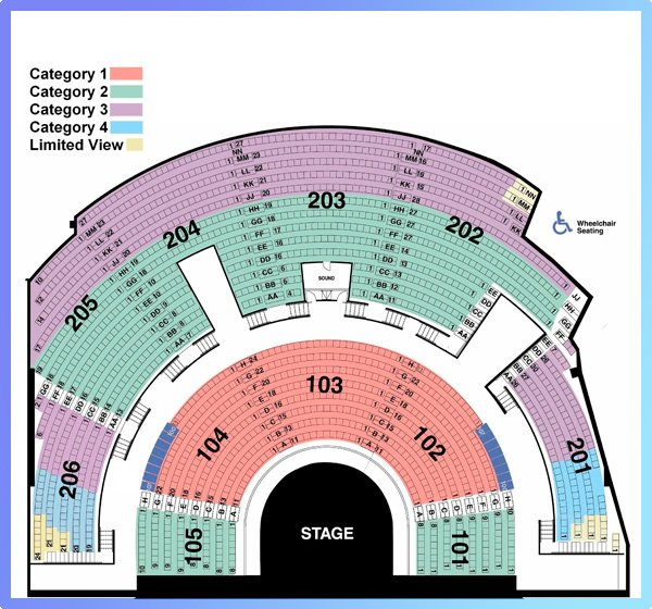 Mystère by Cirque du Soleil Seating Map