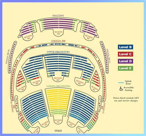 O by Cirque du Soleil Seating Map