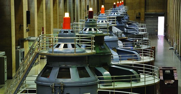 Several generators within Hoover Dam.