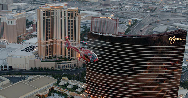 A helicopter tour over the Las Vegas Strip casinos.