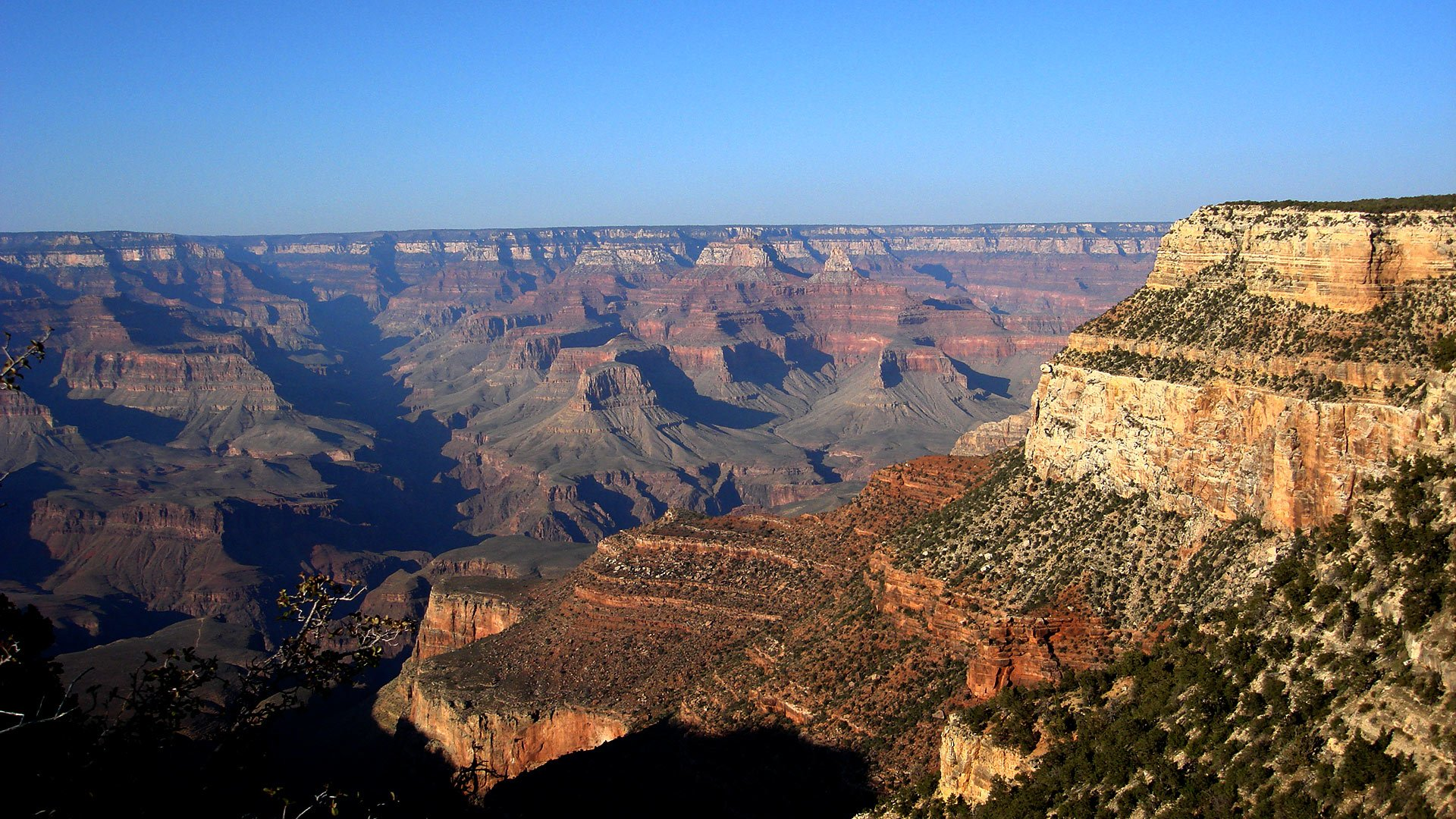 A view of the breathtaking expanse of the Grand Canyon.