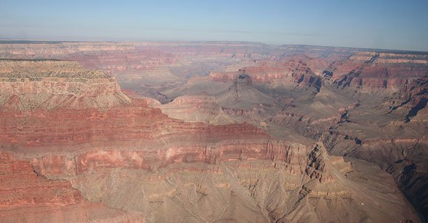 A view of the colossal expanse of the Grand Canyon National Park.