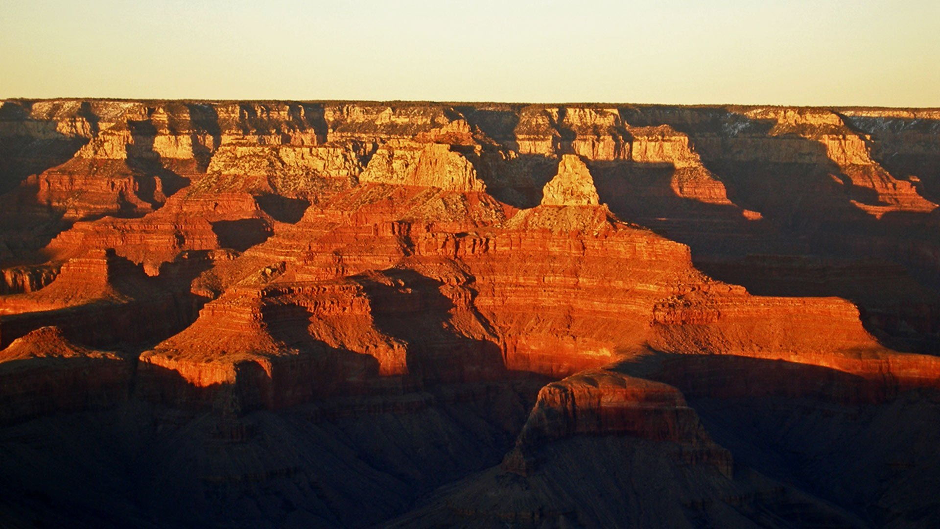 A breathtaking canyon vista at sunset.