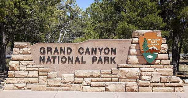 Sign that says Grand Canyon National Park