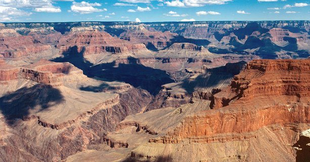 An aerial view of the Grand Canyon South.